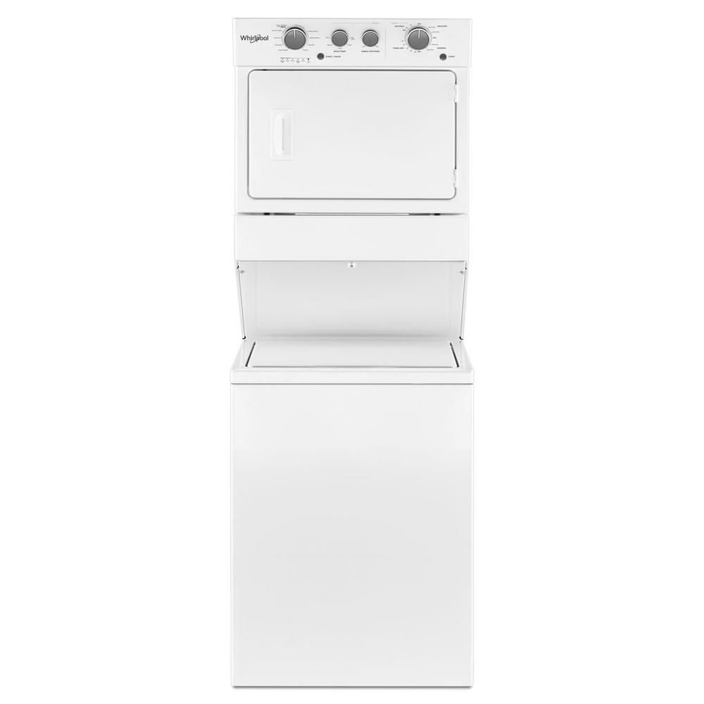 Best High Capacity Whirlpool 3 5 Cu Ft Electric Stacked Laundry Center
