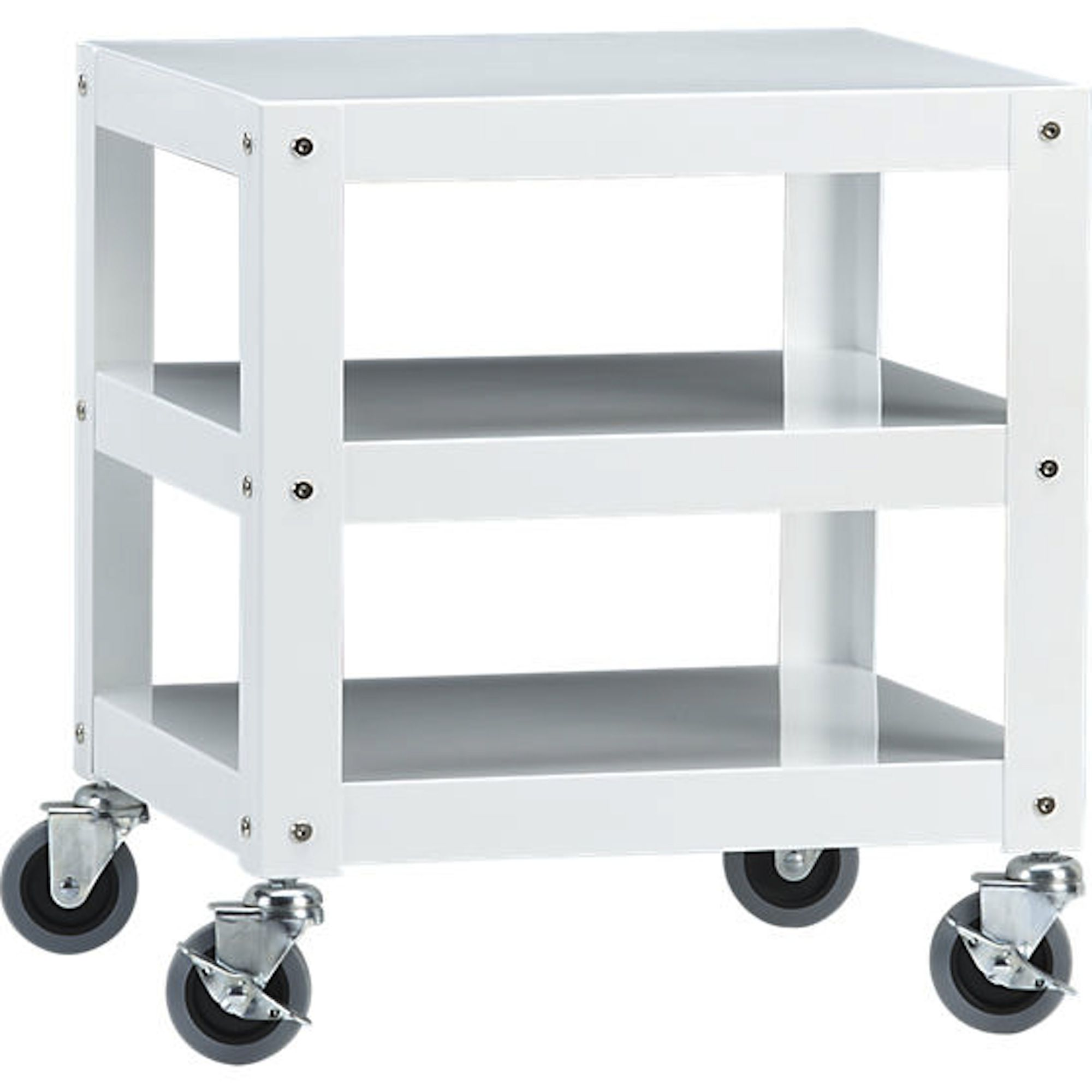 white cart on wheels