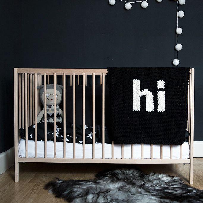 Minimilist nursery in black