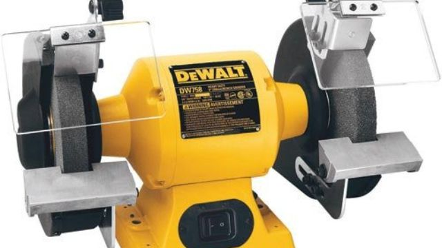 WEN 5-Amp 8 in Corded Variable Speed Bench Grinder with Work Light