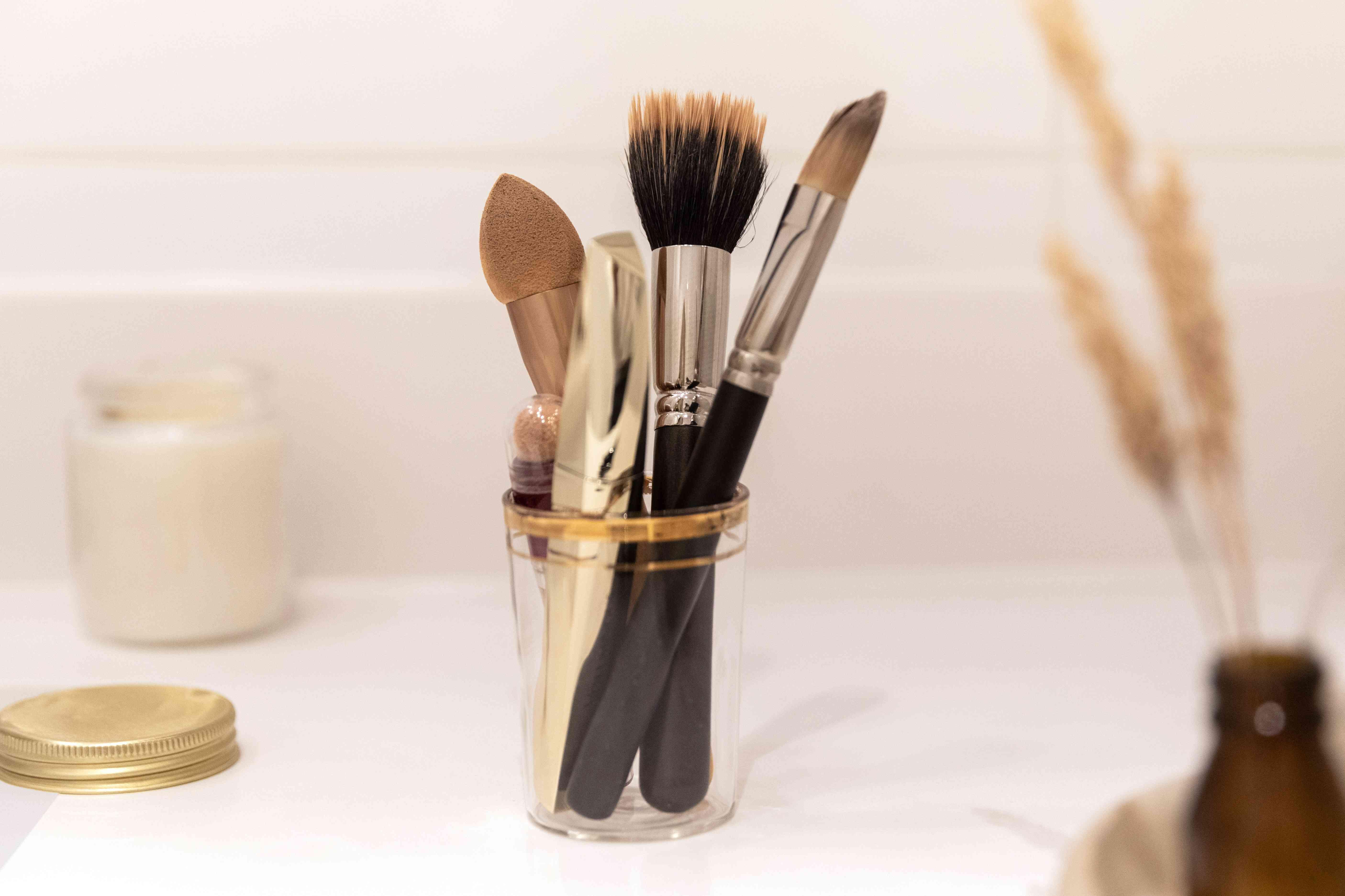 decluttering makeup tools