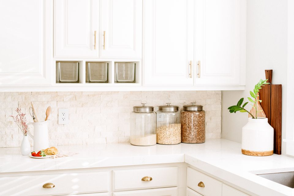 a minimalist kitchen counter