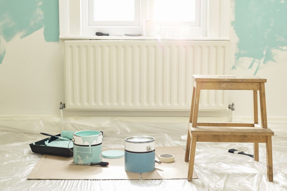 Paint buckets ready for decorating