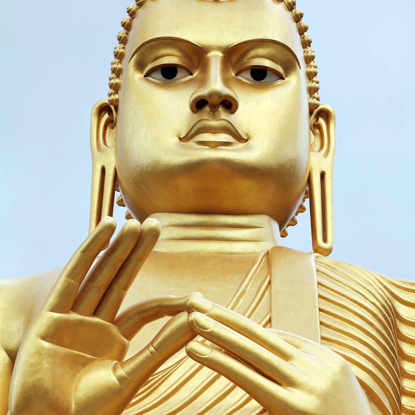 Golden Buddha Statue in Dambulla, Sri Lanka