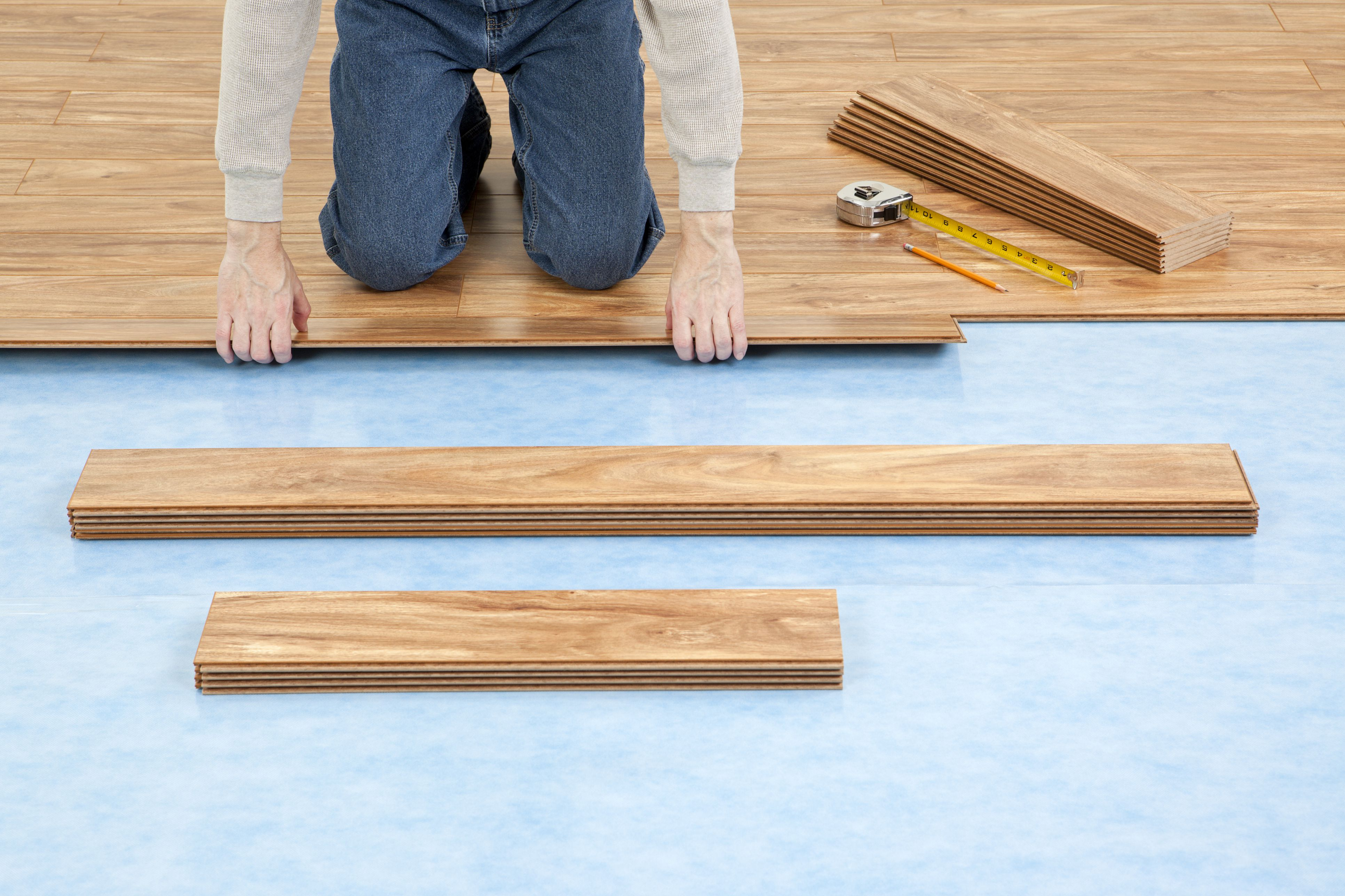 PreAttached Vs Separate Underlayment Laminate Floor - Moisture barrier for vinyl plank flooring