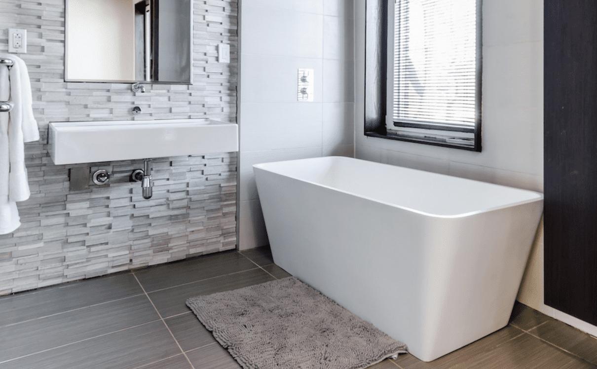 modern minimalist bathtub