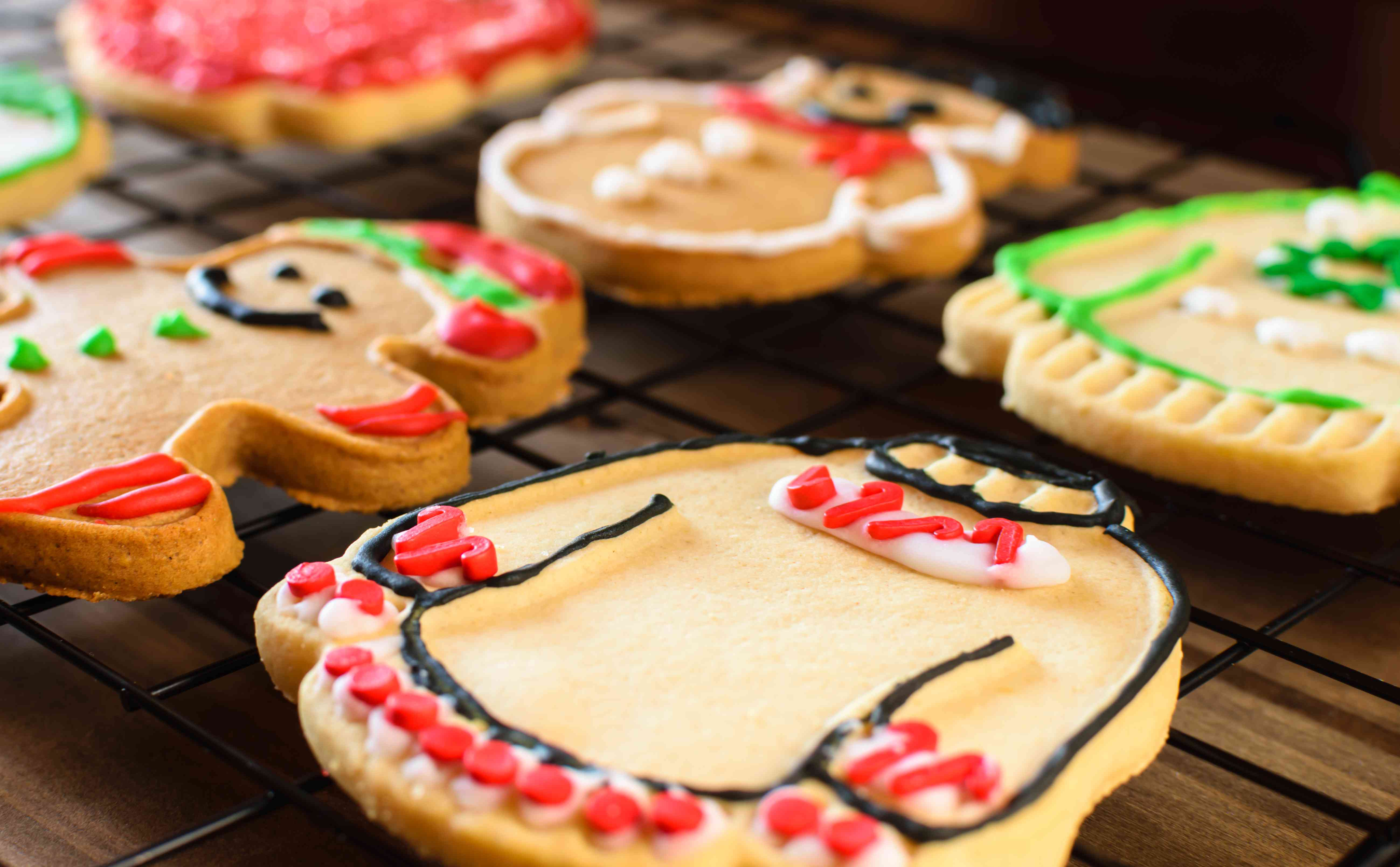 Ugly Christmas Sweater Cookies Background