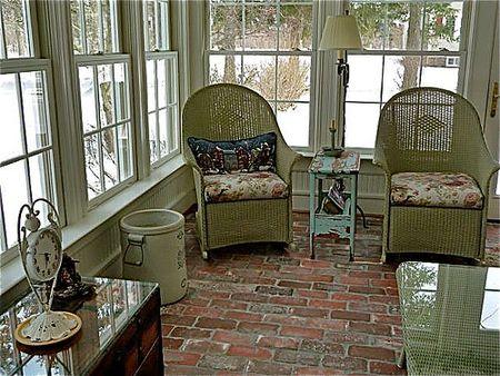 Brick Sunroom Floors