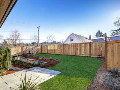 sloped backyard