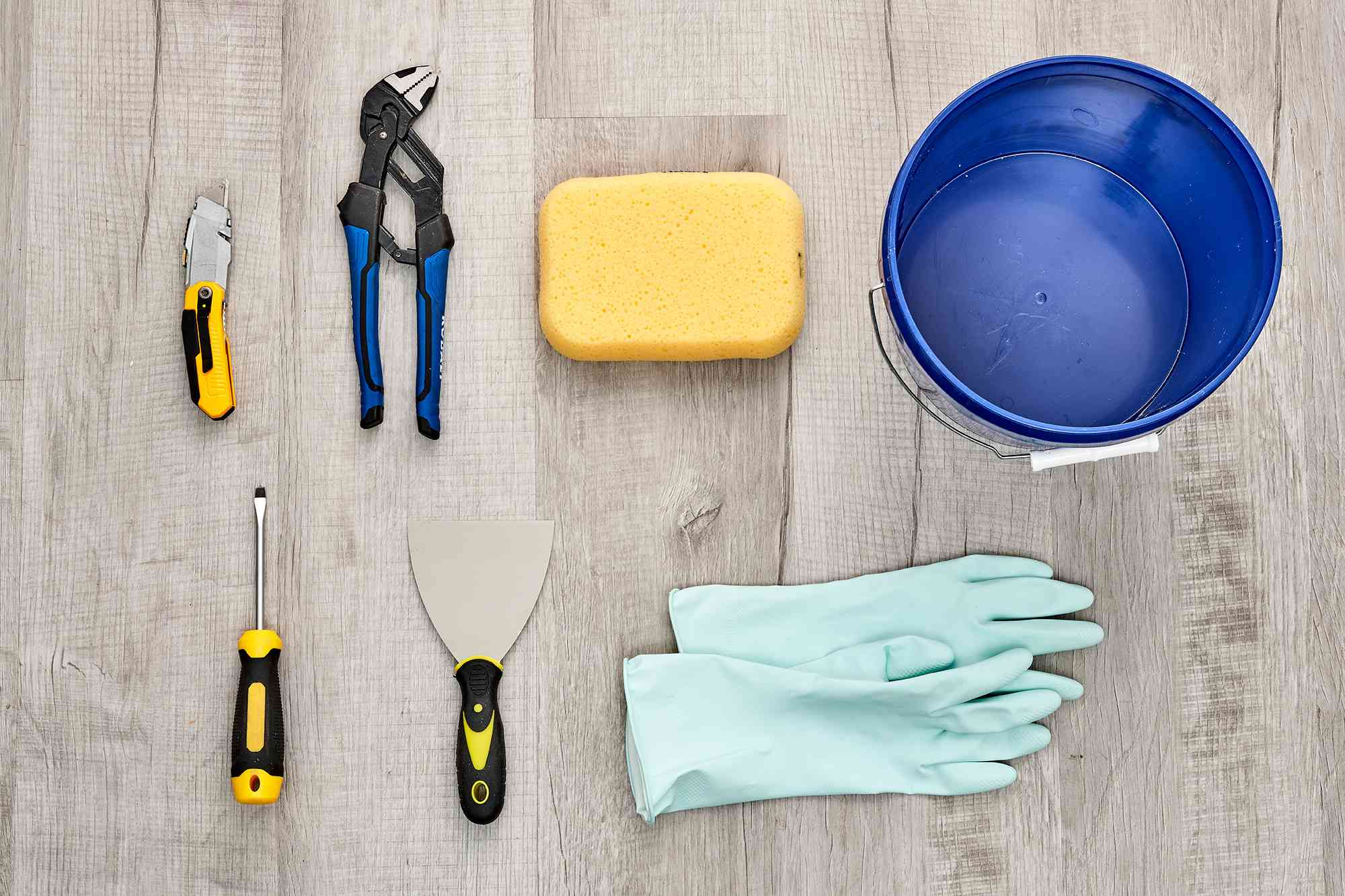 Materials and tools to remove a toilet