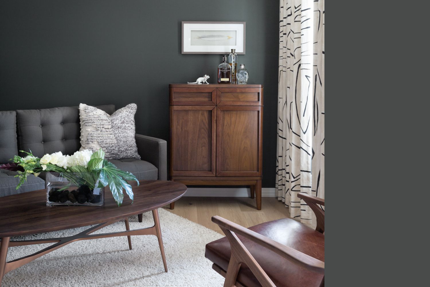 Interior painted a similar color to Behr Astronomical Gray