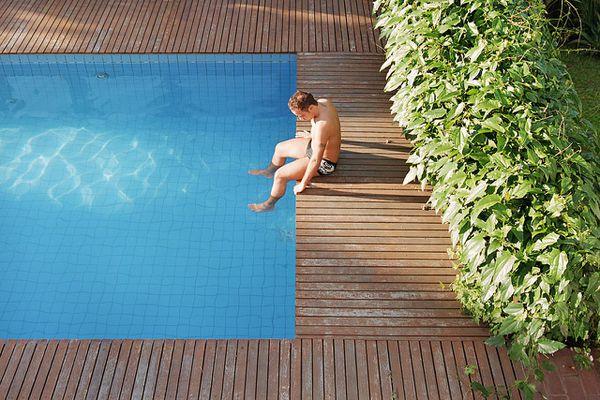guy in pool