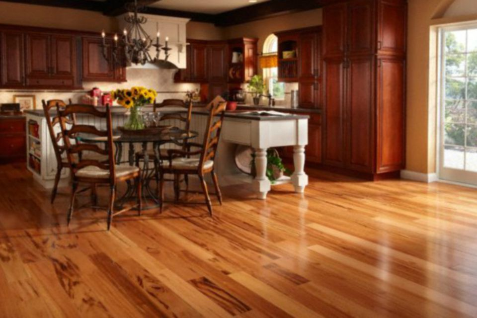 Bellawood Brazilian Koa Hardwood in a nice kitchen