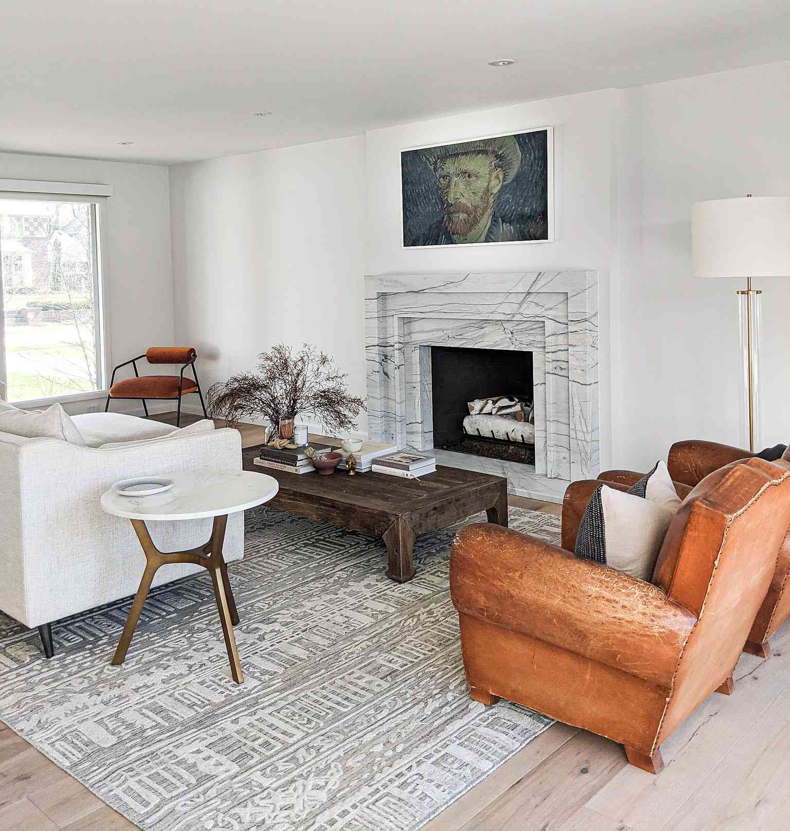 The living room in Molly & Fritz's Shaker Heights home