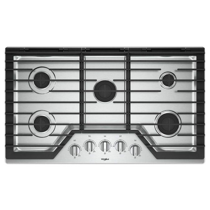 whirlpool-36-inch-gas-cooktop-five-burners-stainless-steel
