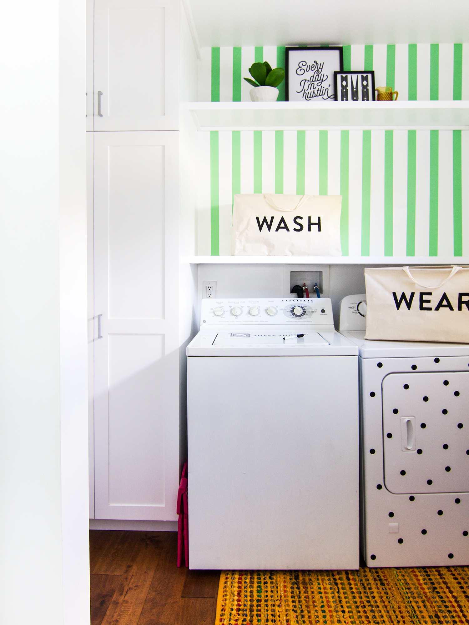 DIY Laundry Room Storage Baskets