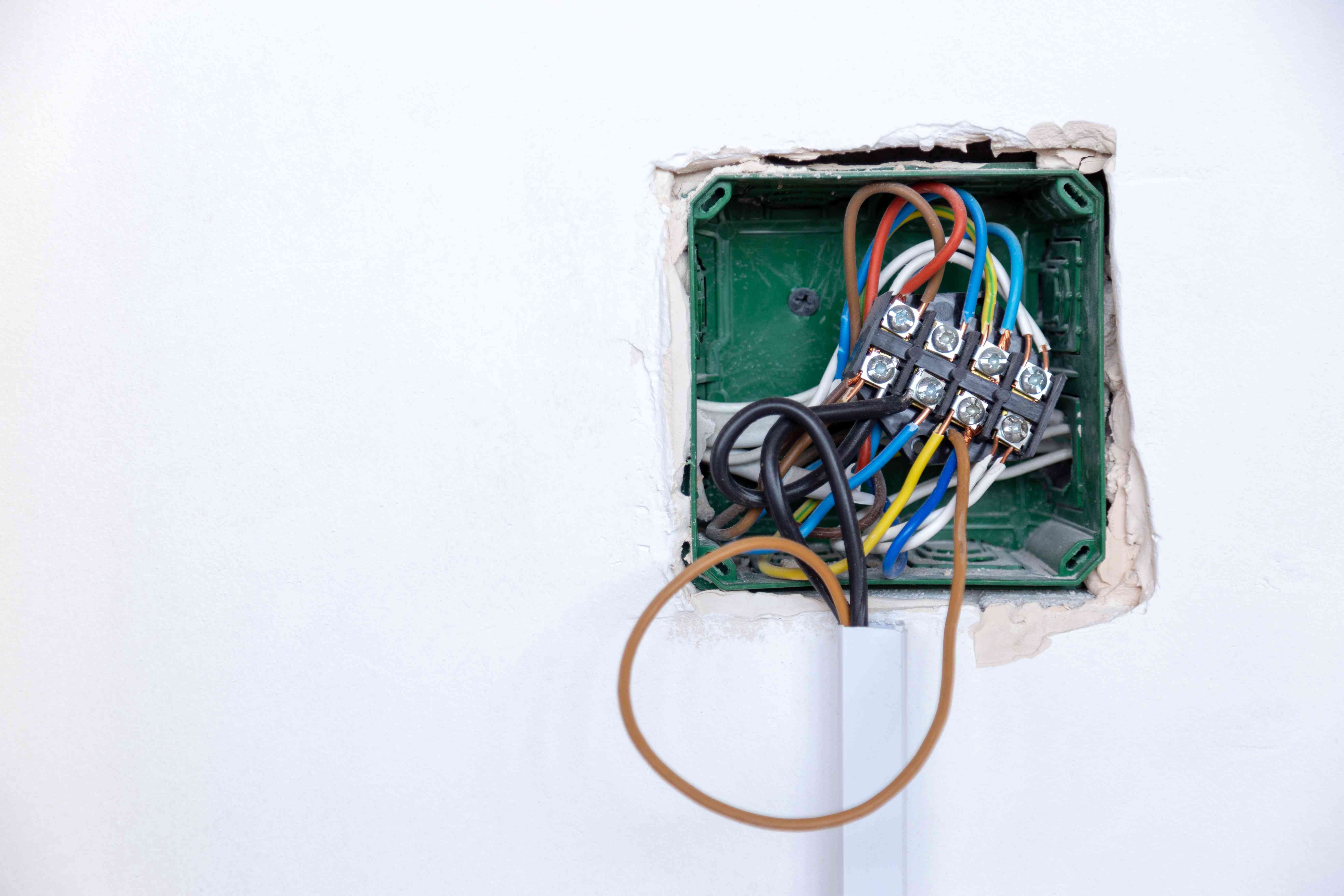 Electrical wiring junction box