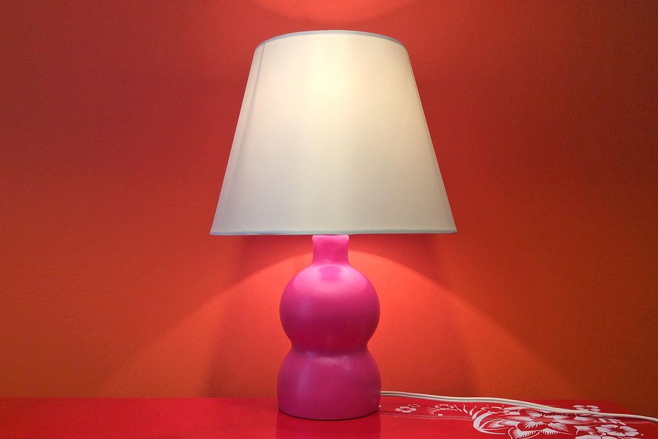 How to make a table lamp using a pom bottle aloadofball Gallery