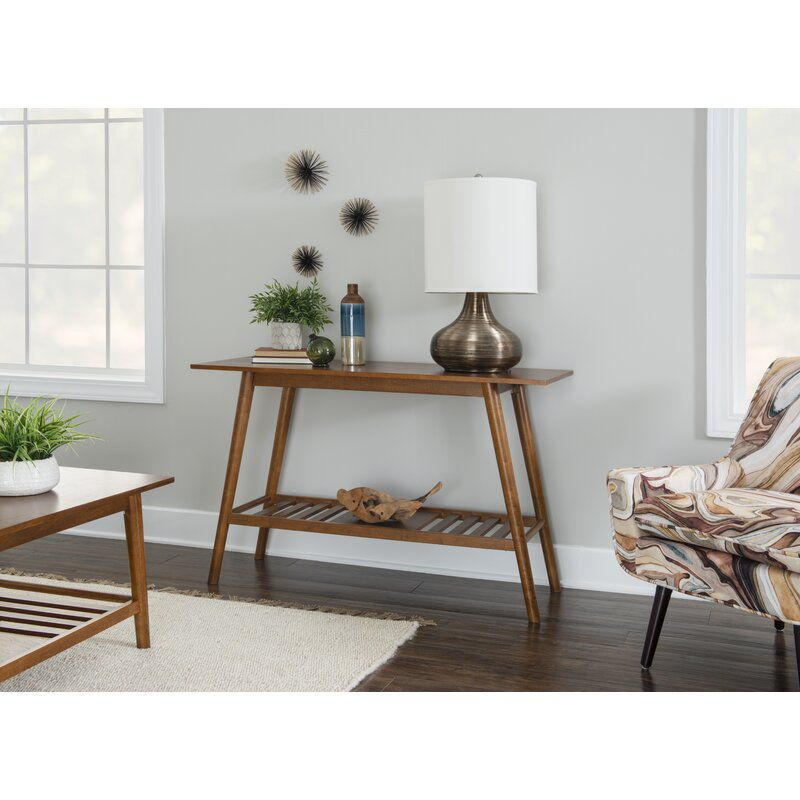 Hashtag Home Brock Solid Wood Console Table