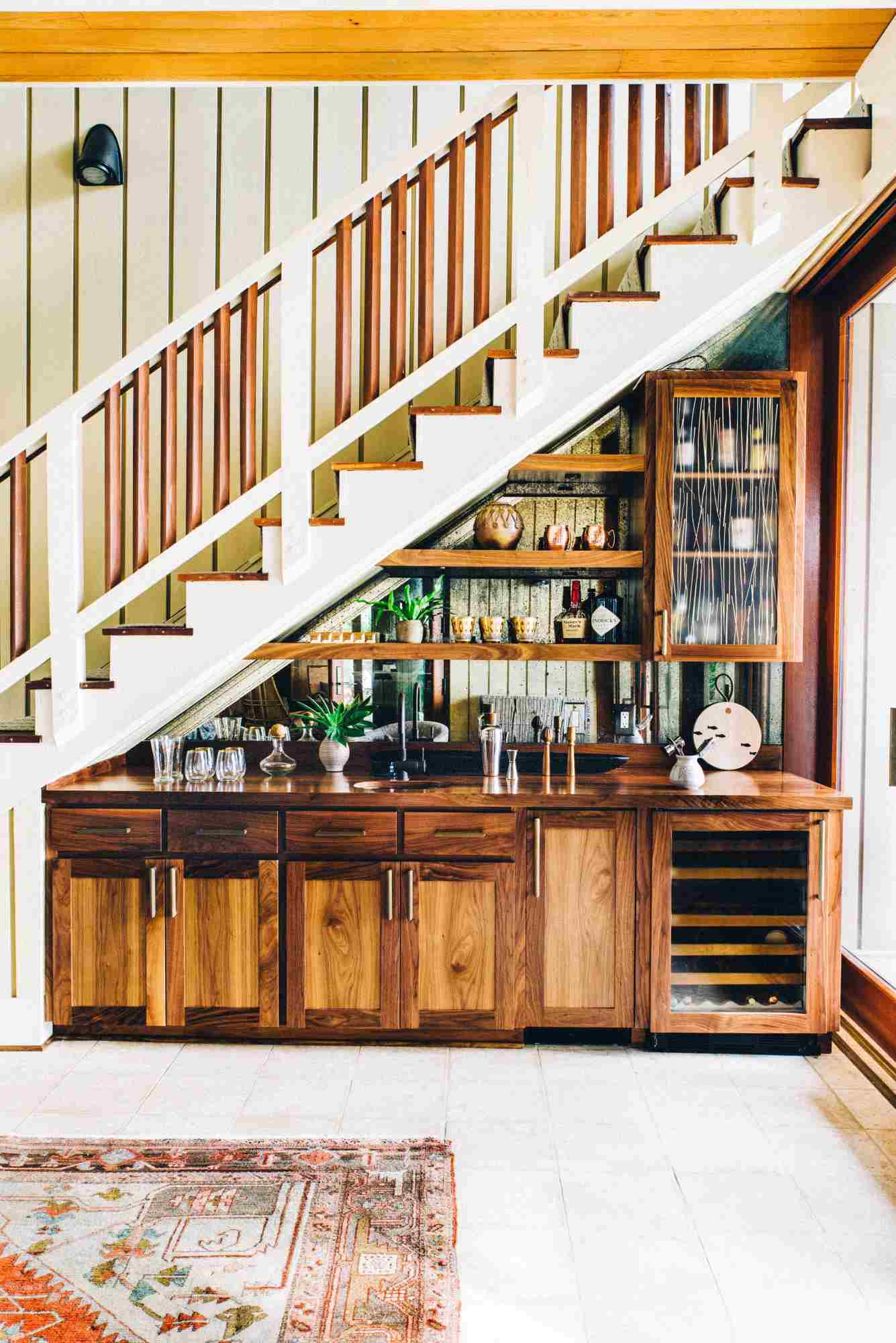 Wet bar staircase