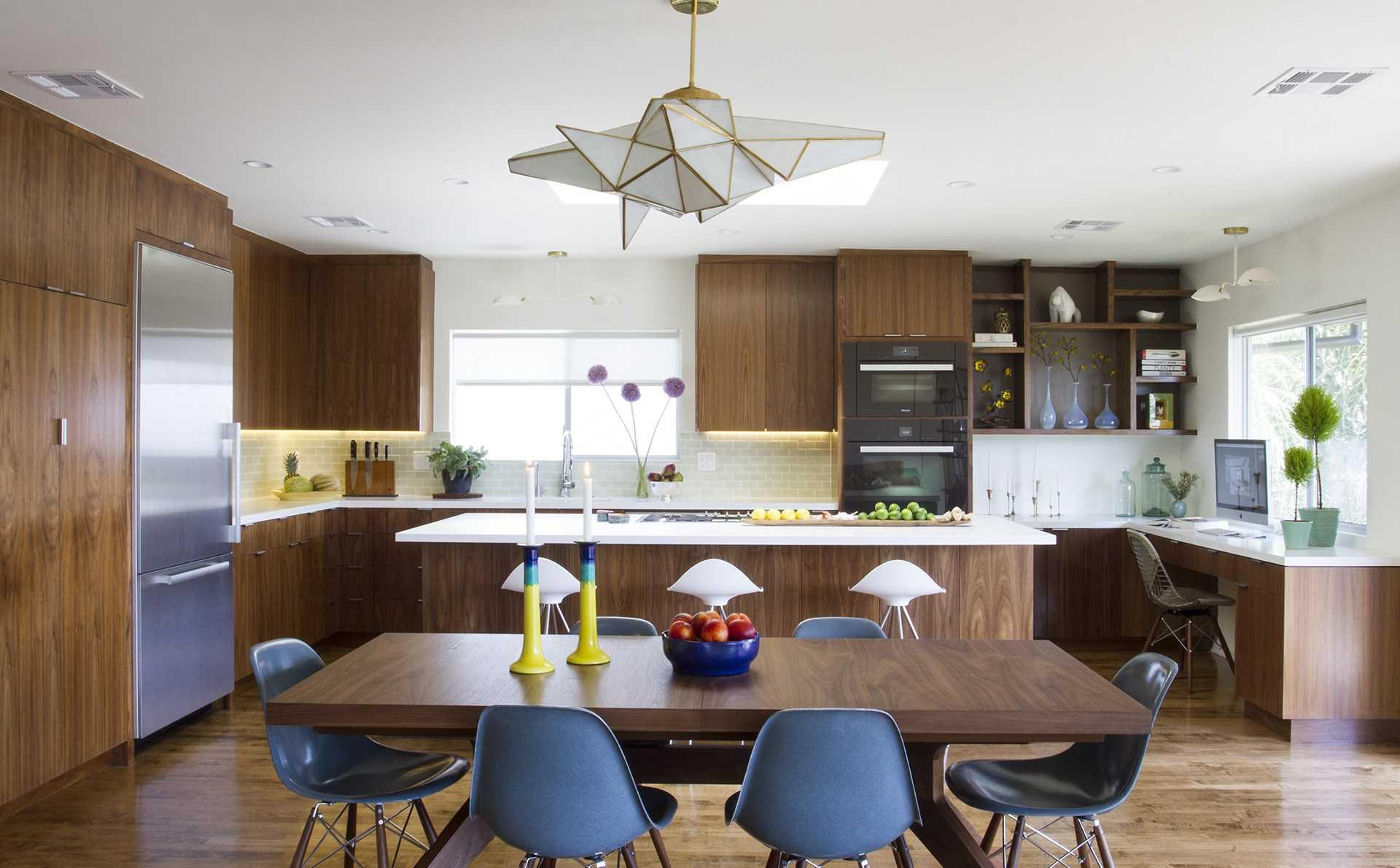 cocina moderna elegante gabinete de madera