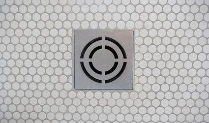 Basement floor drain with tile