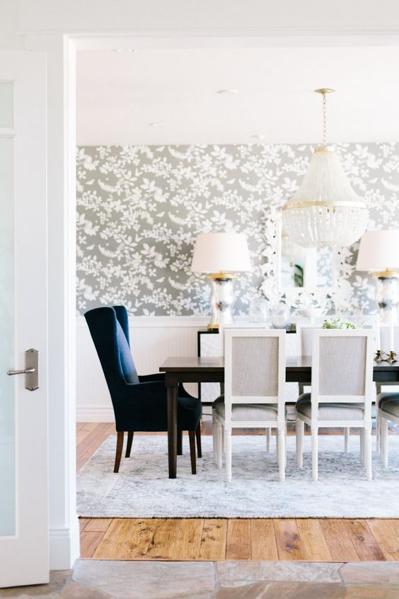 Magnificent 25 Amazing Dining Rooms With Wallpaper Dailytribune Chair Design For Home Dailytribuneorg