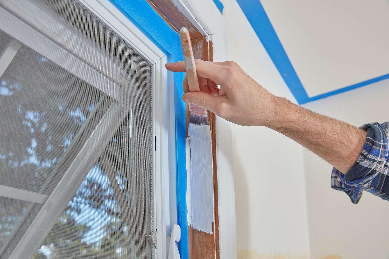Paint inside window trim