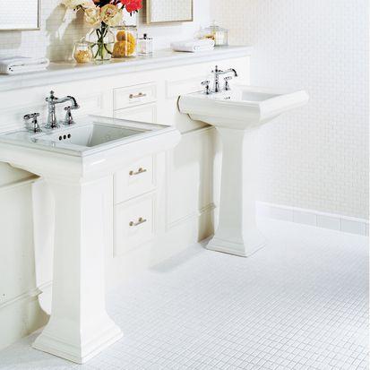 azulejo de baño de mosaico blanco