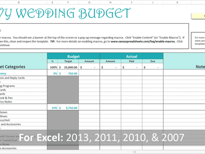 creating a wedding budget you can afford
