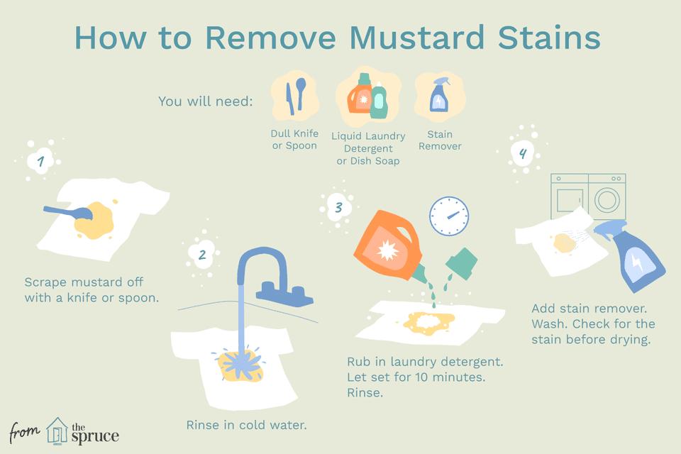 remove mustard stain