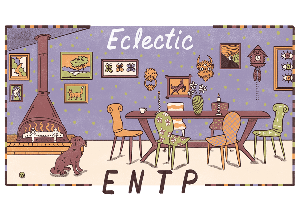 An illustration of the ideal home for an ENTP