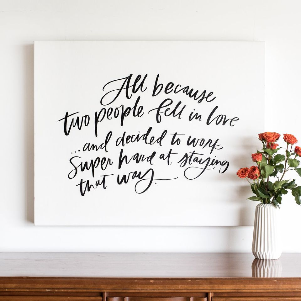 Heartfelt Canvas Guest Book