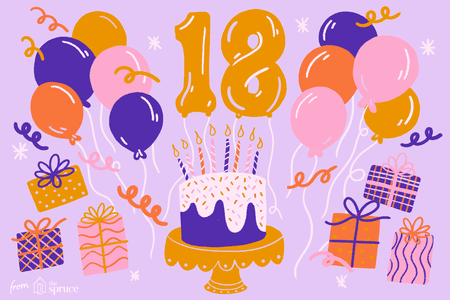 18th Birthday Party Illustration