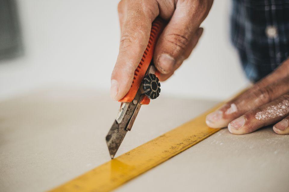 Cutting drywall