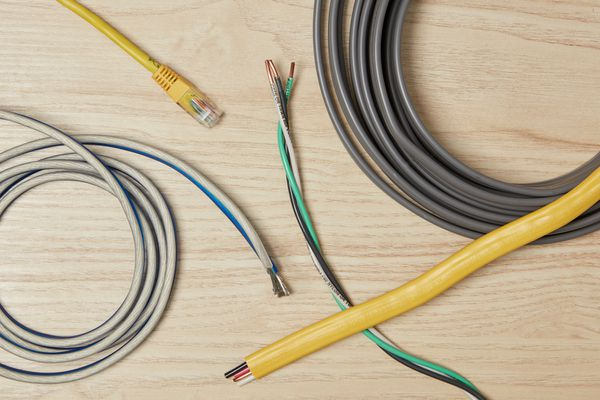 Various electrical wires