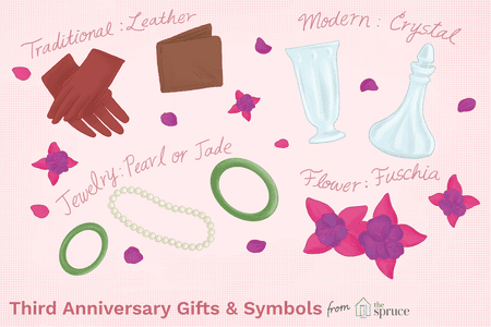 cb3ee9a1bb2e Ideas and Symbols for Your Third Wedding Anniversary