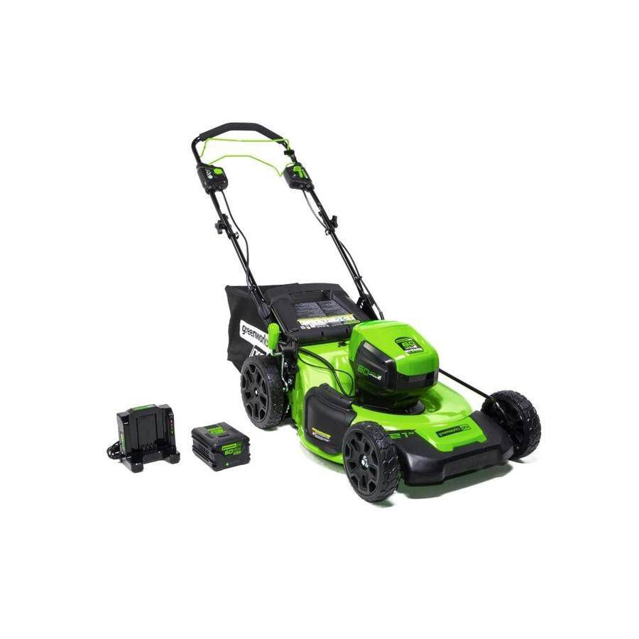 Greenworks Pro 25 in. Battery Self-Propelled Lawn Mower