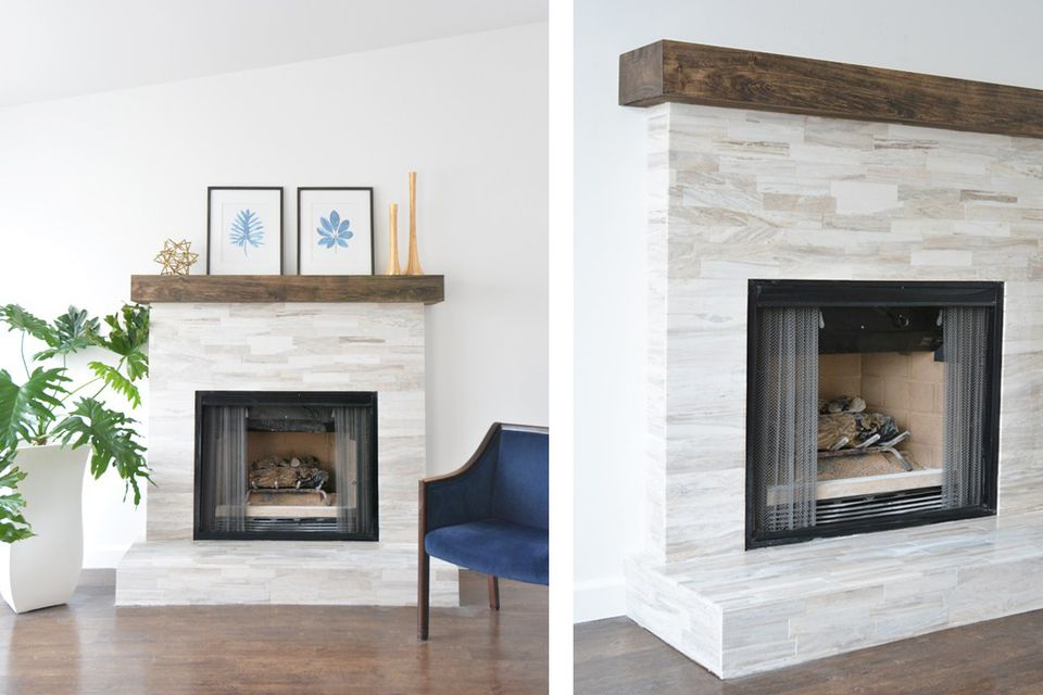 23 marble fireplaces for every aesthetic and budget for Modern farmhouse fireplace