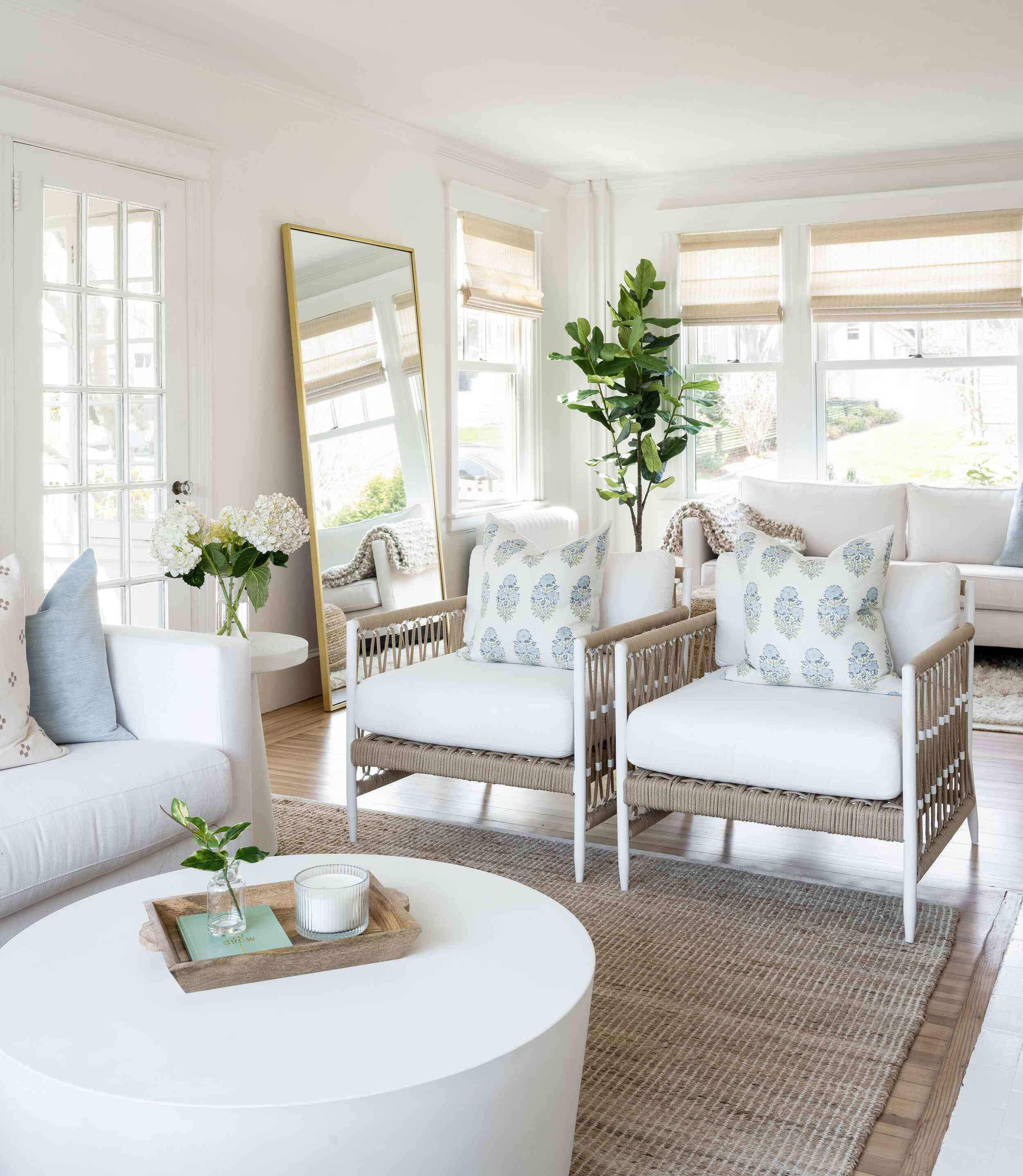 wicker living room