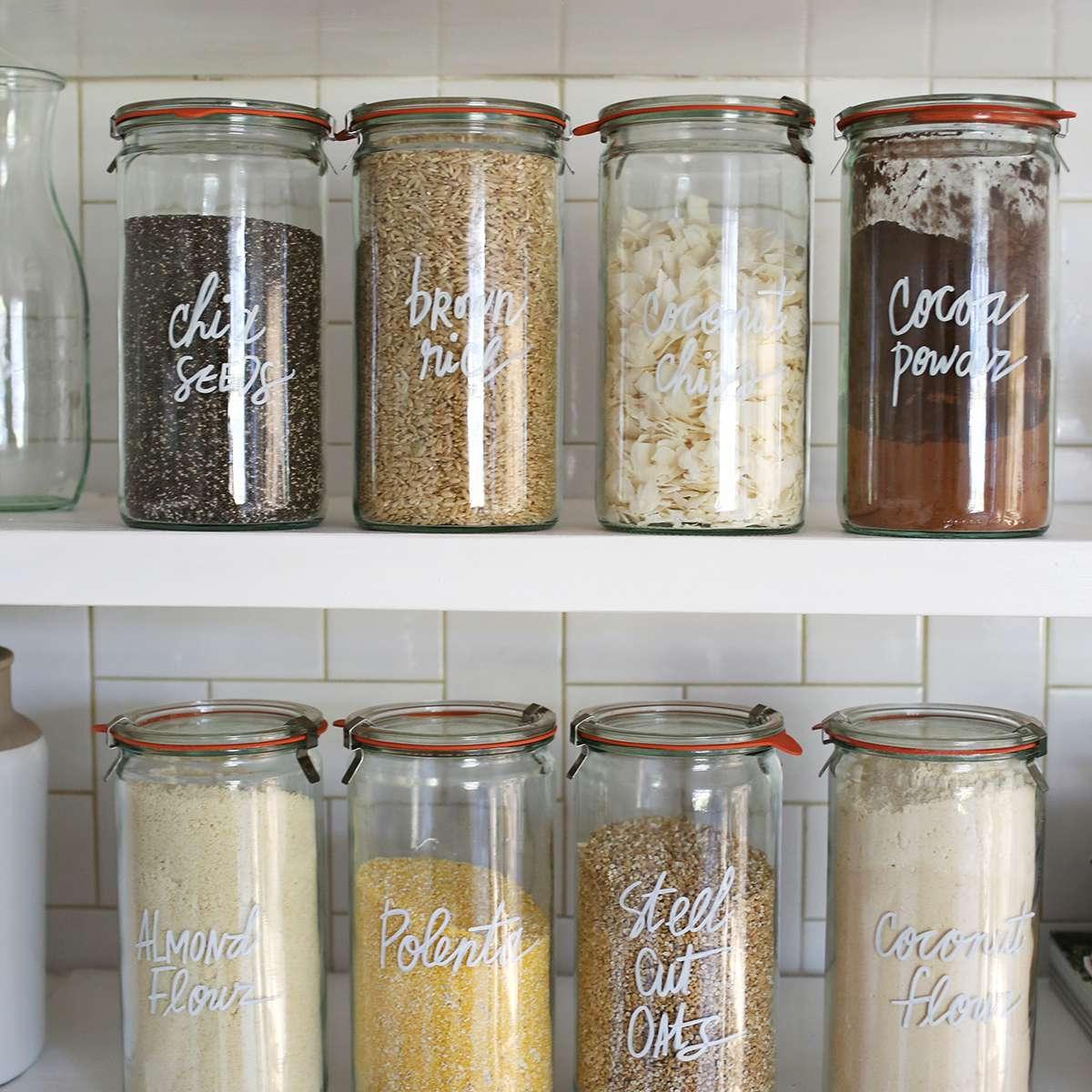 DIY Pantry Storage Jars