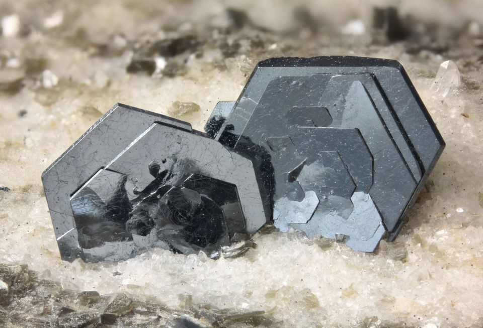 A close-up of hematite mineral