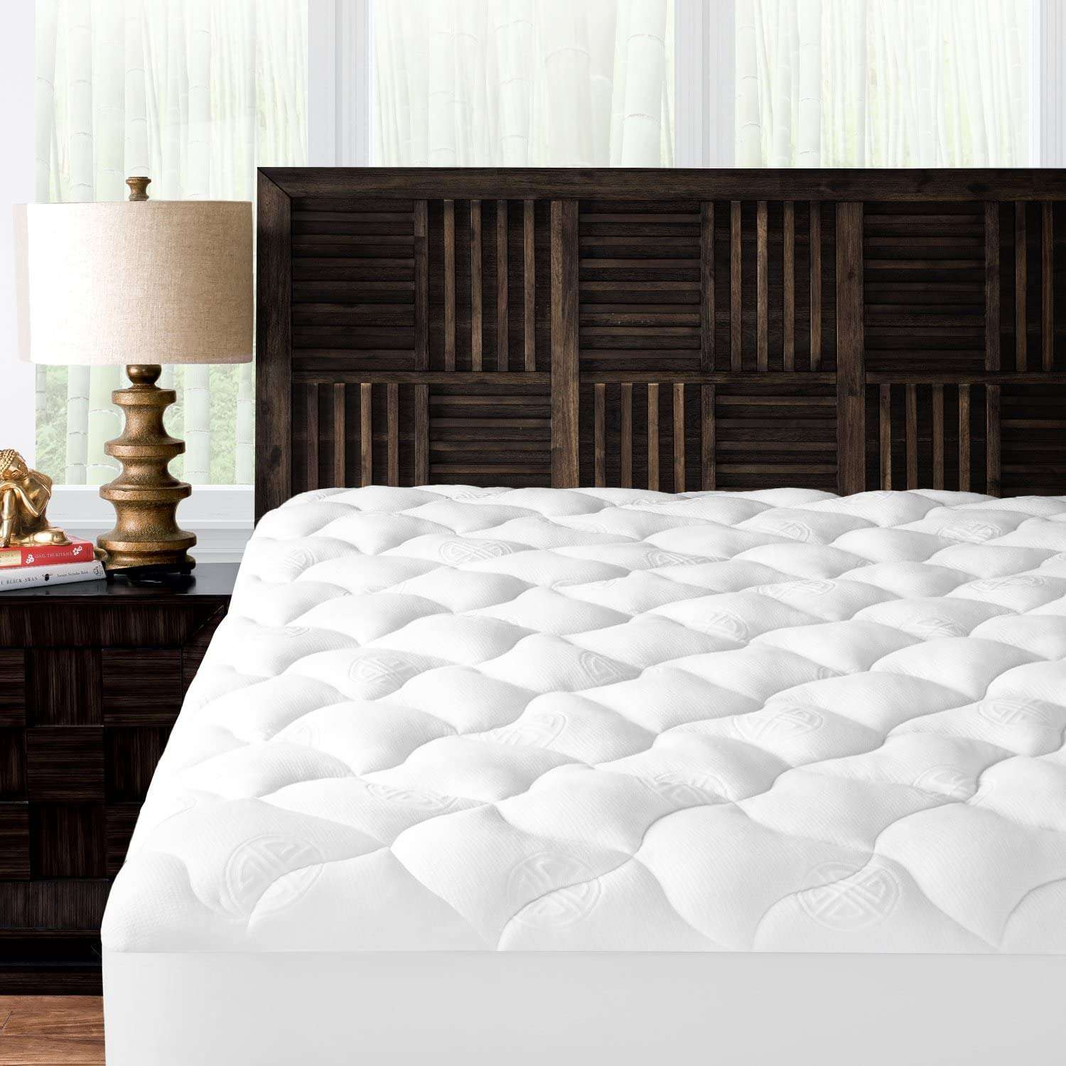 Mandarin Home Collection Ultra Soft Rayon Derived from Bamboo Plush Mattress Topper