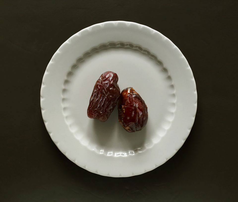 Date palm fruit on plate