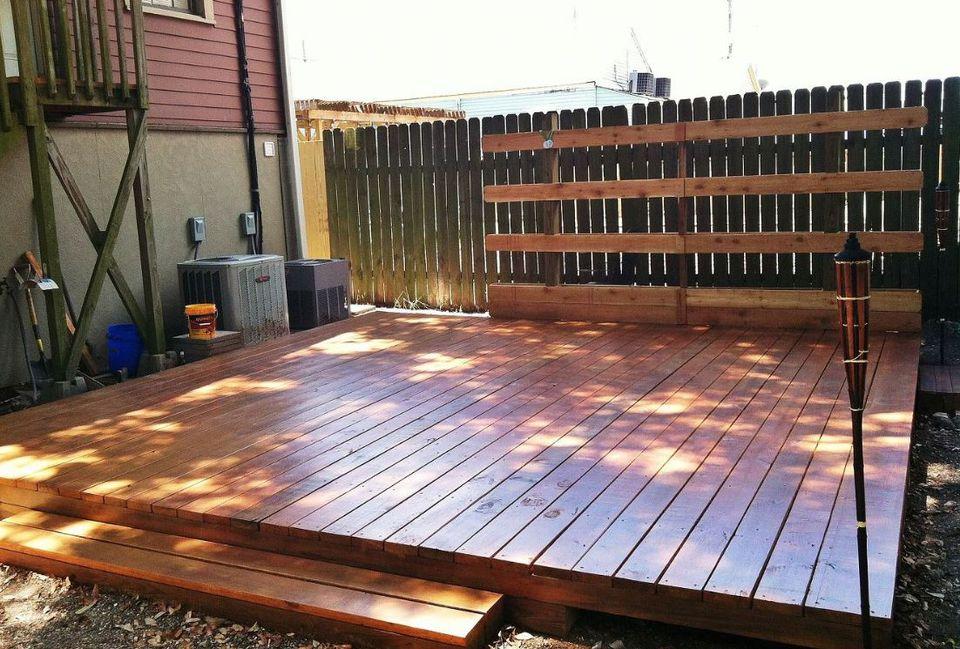 10 Beautiful, Easy DIY Backyard Decks