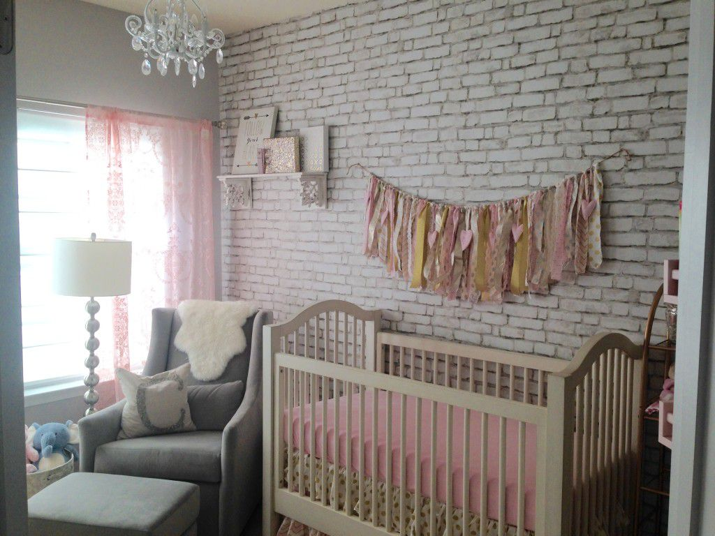 nursery with pink decor