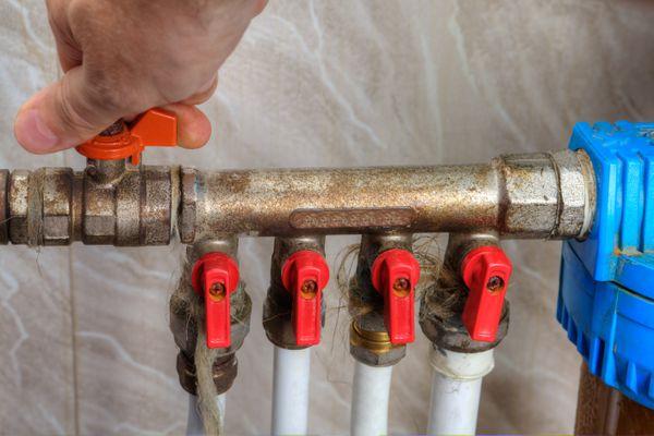 Main water shutoff valve