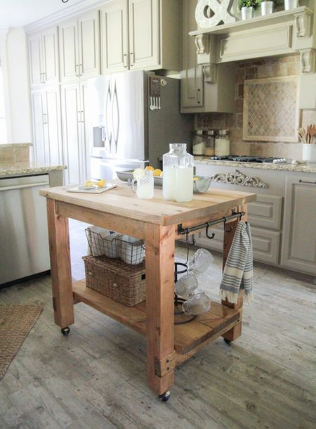 Rustic Diy Kitchen Island For Small Kitchens