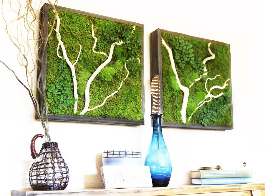 Moss Wall Art Over Console