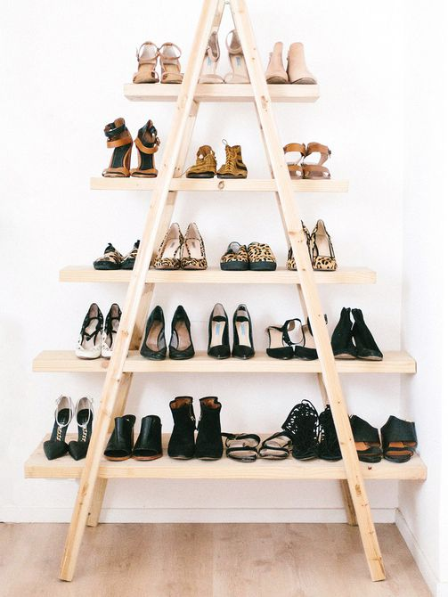 diy shoe ladder